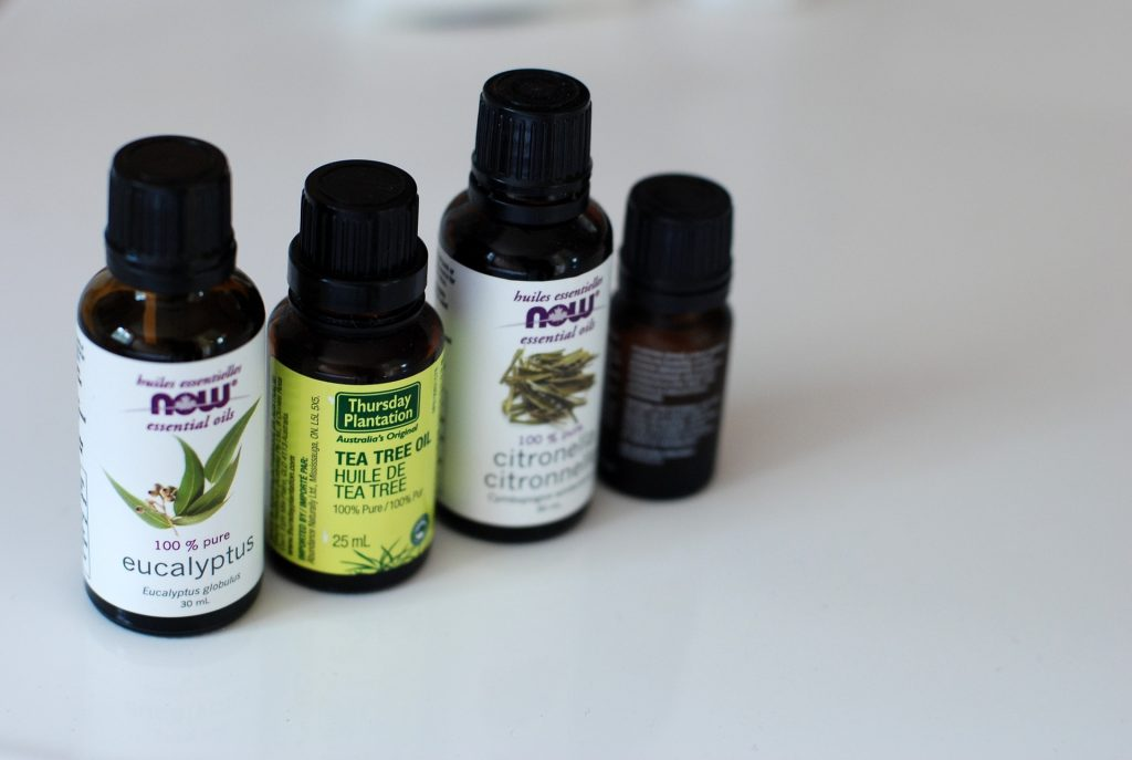 cleaning products with essential oils